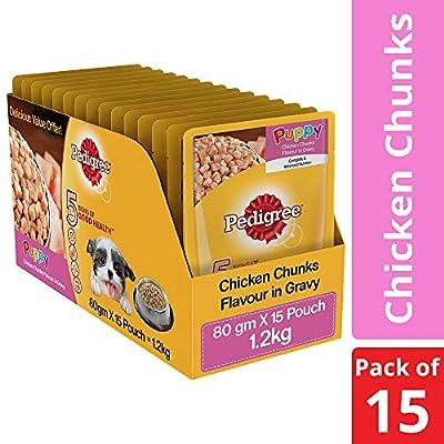 Pedigree Gravy Puppy Dog Food Chicken Chunks in Gravy, 80g
