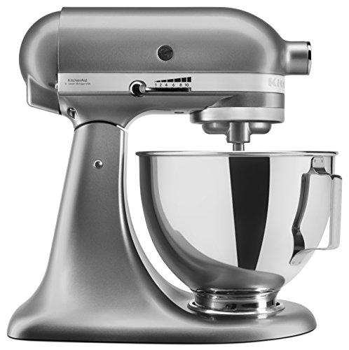KitchenAid UK 5KSM95PSBCU Stand Mixer with Pouring Shield, Silver