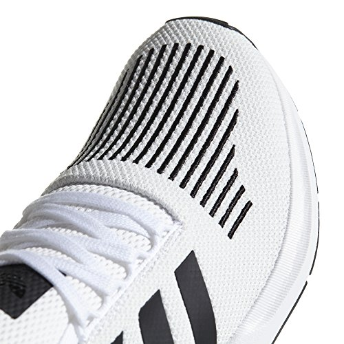 adidas Originals Swift Run CQ2116 e CQ2114. Uomo.Bianco y Nero Sneaker, Trainer Low-Top Carbon/Ftwr White