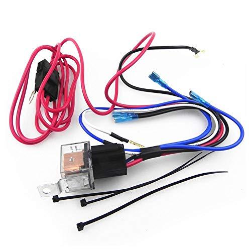 Libertry Altoparlante per auto con altoparlanti Kit di cablaggio Amplificatore per montaggio su subwoofer Kit per linea 10GA Cavo di alimentazione 80 Portafusibile AMP Rosso e blu