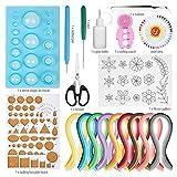 Hyber&Cara Papier Quilling Werkzeug Set mit 45 Farben 900 Papierstreifen Breite 5mm Quilling Schimmel Board, 19 Stück