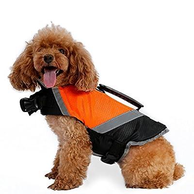 LvRao Schwimmweste Schwimmmantel Wassersport Schwimmhilfe Rettungsweste für Hunde Haustier mit Griff, Reflektoren