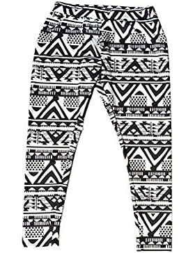 OULII Pantalones de Navidad para Madre e Hija con Copo de Nieve y Reno Pantalones en Invierno Talla S (Negro)