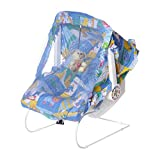 #8: NHR Multipurpose (9 in 1) Blue baby carry cot with mosquito net and Sun shade