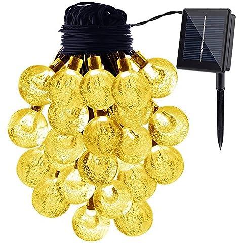 Solar Fairy string Light, gdealer 20ft 30Cadena De Luces LED Impermeable bola de cristal Solar Powered mundo luces de cuerda para exterior jardín, patio, Hogar, Paisaje, Halloween Fiestas de Navidad