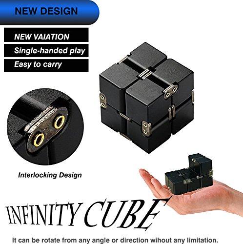 Preisvergleich Produktbild Unendlicher Würfel Magic Infinity Flip Cube Edc Fidgeting Square Shaped Release Stress Spielzeug für Angst und Langeweile, Schwarz Eloxiertes Aluminium - Zauberwürfel - Speed Cube ,Dreht sich schneller und präziser als der Original-Rubik. Super-robust mit lebendigen Farben. Zauberwürfel Speed Cube Magic Cube-Geduldspiel Knobelspiel Denksport Original Zauberwürfel Speedcube-Rubik's Cube