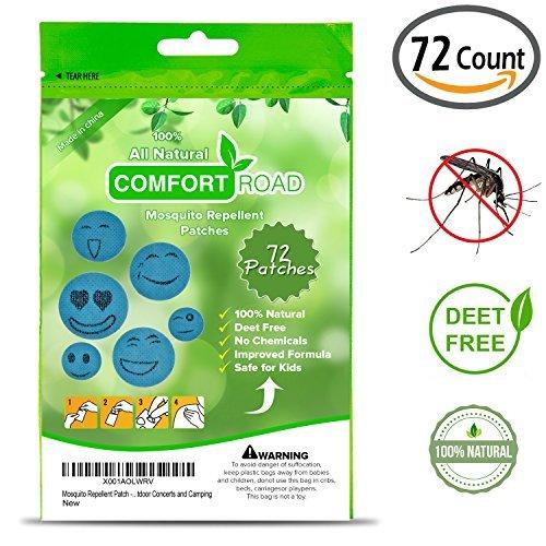 Comfort Road Mückenschutz Patch 60Zählen + 12Koala Patch Hält Insekten und Bugs Far Away, Einfach auf die Haut und Kleidung, Erwachsene, kinderfreundlichen, Bequem für Reisen, Outdoor und Camping Patches Halt