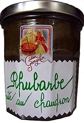 Marmelade aus Frankreich Rhabarber Rhubarbe quit au Chaudron 320 Gramm