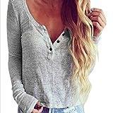 Pullover Sweatshirt Damen Strickjake Kapuzenpullover Xinan Casual Bluse Langarm Hemd T-shirt Tops