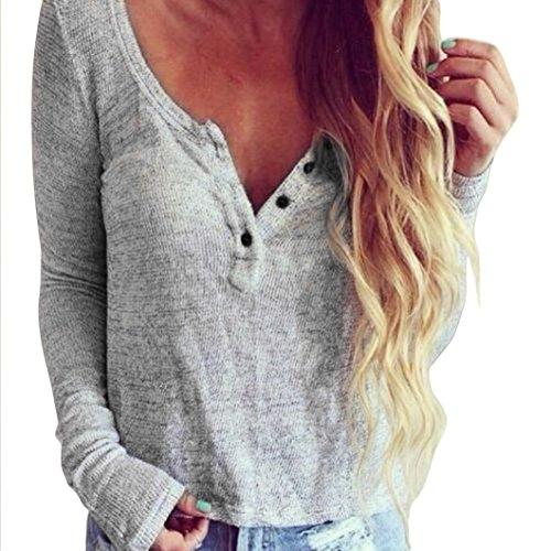 Kaschmir-print Cardigan (Pullover Sweatshirt Damen Strickjake Kapuzenpullover Xinan Casual Bluse Langarm Hemd T-shirt Tops (M, Grau))