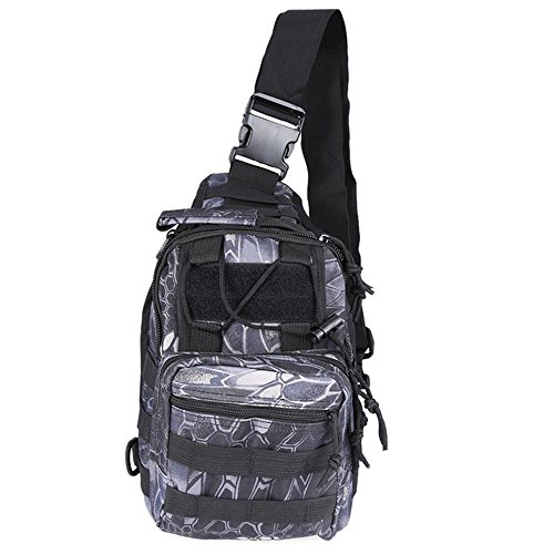 Ajusen Military Umhängetasche Brusttasche Rucksack Multifunktions Tactical Schultertasche Chest Bag für Radfahren Wandern Camping 4