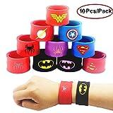 JLZK Bande de Bracelets Slap Super-Héros pour Enfants Garçons & Filles Fête Noël Cadeaux Halloween fournit des faveurs, des Jouets, des Prix de l'École