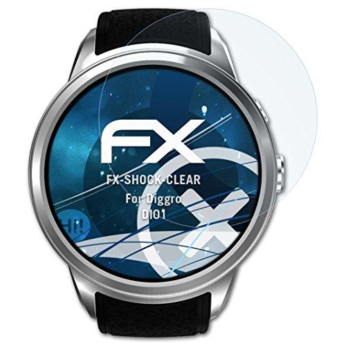 atFoliX Anti-Shock Pellicola protettiva compatibile con Diggro DI01 Pellicola Proteggi, ultra chiara e che assorbe gli urti FX...