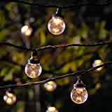 10er LED Party Lichterkette klare Kugeln warmweiß 5m koppelbar PRO Serie Lights4fun
