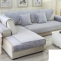 Invernale imbottito flanella lana cuscini del divano/ full-cover slip divano set telo di copertura/ cuscino-C 110x160cm(43x63inch)