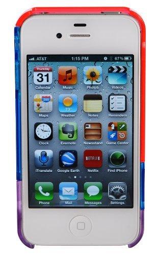 luvvitt Leaf Hülle für iPhone 4& 4S Red/Blue/Purple