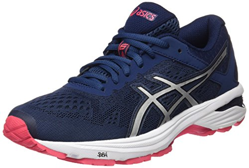 Asics Women's GT-1000 6 Running Shoes, Blue (Insignia Blue/Silver/Rouge Red), 7 UK...