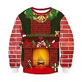 Pullover Weihnachtsmotiv Kamin 3D bedruckt