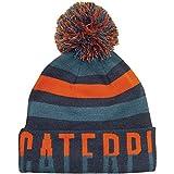 CAT Lifestyle Johnston City Herren Warm Pudelmütze Beanie Wintermütze Mütze Blau Einheitsgröße