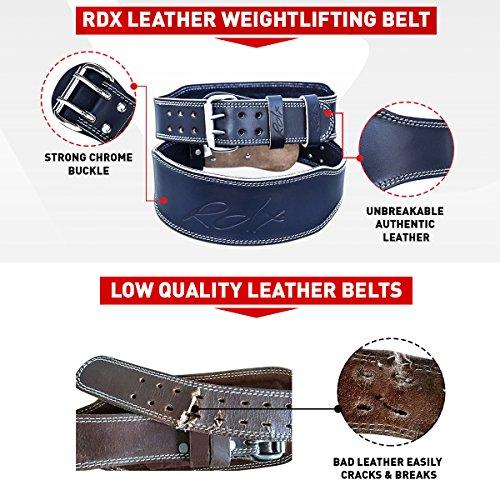 RDX Leder 4″ Gym Training Gewichthebergürtel