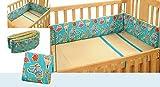 #9: Swayam Kids N More Digitally Printed Mercerised Cotton Standard Cot Bumper - Multicolor