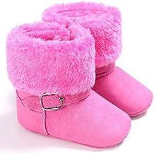 Botas Altas de Color Sólido Botas Unisex de Nieve de Niñas Zapatos de Bebé Invierno de
