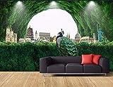 Wandbild Hintergrundbild Benutzerdefinierte Tapete Frischen Wald Tourismus Internationale Architektur Tv Hintergrundwände Ländlichen Wind 3D Tapete @ 300 * 210Cm