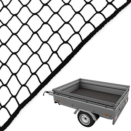 caretec® Anhängernetz schwarz mit Expanderseil gelb (1,50x2,50m)