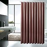 Braun Dekorative Anti-Schimmel Textilien Polyester Wasserabweisend Duschvorhang 120x200