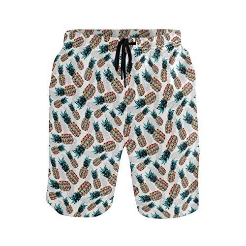 Men's Summer ShortsPink and Black Colored Girlish Pattern Safari Savanna,Size:XL -