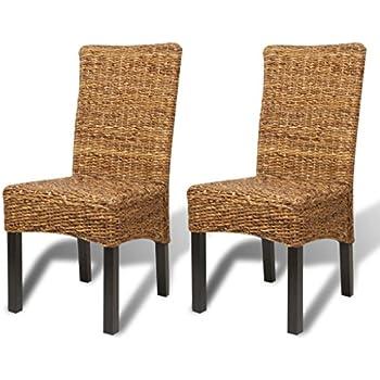 Set 2x sedia sala da pranzo M69 intreccio di banano ~ gambe chiare ...