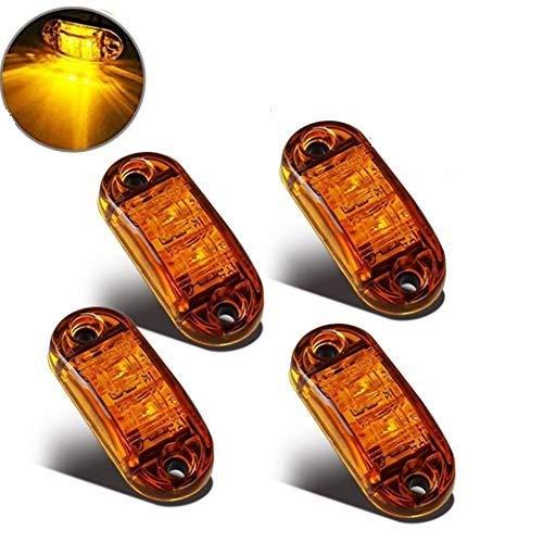 LED Seitenmarkierungsleuchten 12V/24V für Auto LKW Anhänger SUV Van Wasserdicht Markierungsleuchten E-geprueft-WildAuto (Gelb 4pcs) -