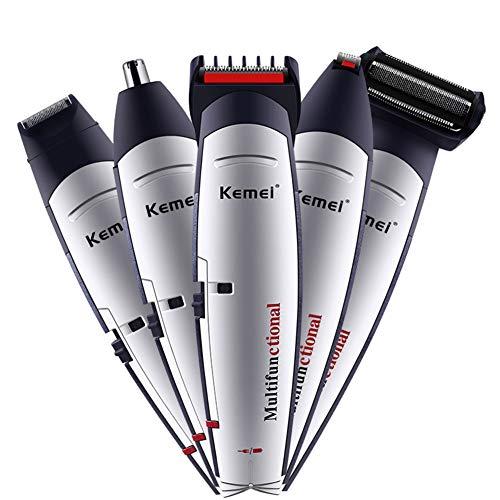 5 en 1 tondeuse à cheveux sans fil Kit de toilettage rechargeable outil profession rasoir nez cheveux barbe Temple Trimmer pour les hommes enfants utilisation