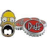 """United Labels 0116565 Los Simpson - posavasos con abridor de botellas, 5 teilig """"Duff Beer"""""""