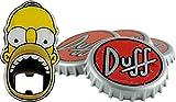 Unitedlabels 0116565 Simpsons - Sottobicchiere con apribottiglie, 5 Pezzi Duff Beer