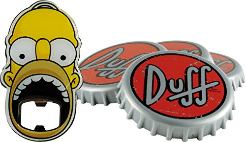 United Labels 0116565 Los Simpson - Posavasos con abridor de Botellas, 5 Teilig Duff Beer