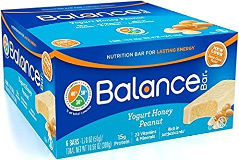 Balance Bar Yogurt Honey Peanut, 1.76 ounce bars, 6 count by BALANCE Bar