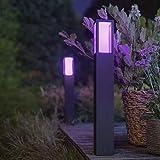 Philips Hue White & Color Ambiance Impress Wegeleuchte, schwarz | LED-Stehleuchte für den...