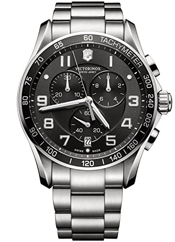 Victorinox Swiss Army Herren-Armbanduhr Chronograph Quarz Edelstahl 241650