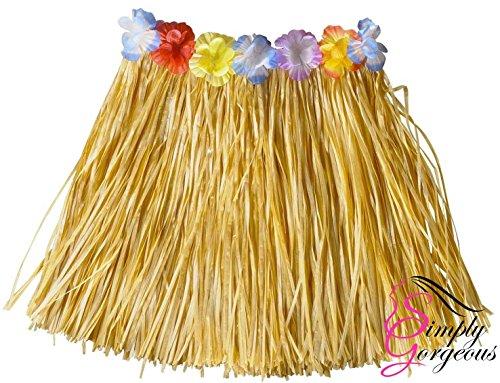 Simply Gorgeous Mädchen Hawaii- Gras- Rock-Blumen- Hula Lei Garland Kostüm - ()