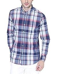 Multi Check Slim Fit Button Down Shirt