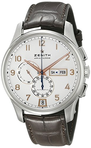 Zenith Captain Winsor Chronograph White Dial Brown Leather Mens Watch