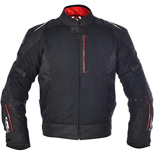 *Oxford Toledo 1.0Air Herren Textil kurz Motorrad Jacke–Tech Schwarz*