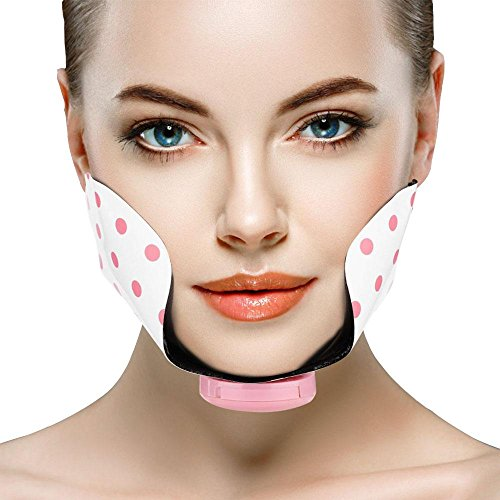 Gesicht Cheek Slimmerbelt, Silikon Elektro Einstellbare Mini Gesichts Abnehmen Lifting Straffende Pad Point Massage Patch - Gesicht Korrektor