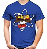 Big Bang Minions Sofa Männer und Herren T-Shirt | Banana Minion Fun (M, Blau)
