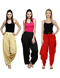 Mango People Products Combo Skin, Black & Red Of 3 Colours Womens & Girls Solid Cotton Mix Best Indian Ethnic...