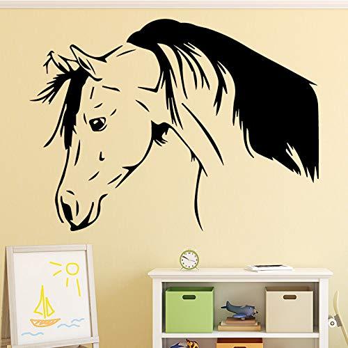 Hübsches pferd wandaufkleber dekoration zubehör wandaufkleber für wohnzimmer schlafzimmer diy vinyl wandkunst aufkleber 43 cm x 61 cm