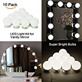 LED Vanity Mirror Lights Kit Ollny Hollywood Style 10 Dimmable Light Bulbs - Lighting Fixture Strip for Makeup Vanity Dressing Table