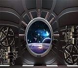 NNKKBH 3D Wallpaper Benutzerdefinierte Mural Science Fiction Raumschiff Platz Kabine Sofa Kinder Tapete 3D Wohnkultur Hintergrund,280×400