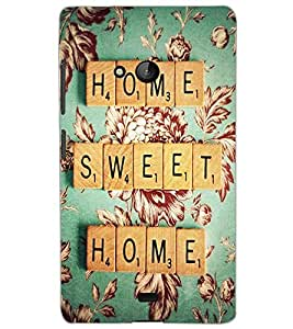 MICROSOFT LUMIA 540 HOME SWEET HOME Back Cover by PRINTSWAG